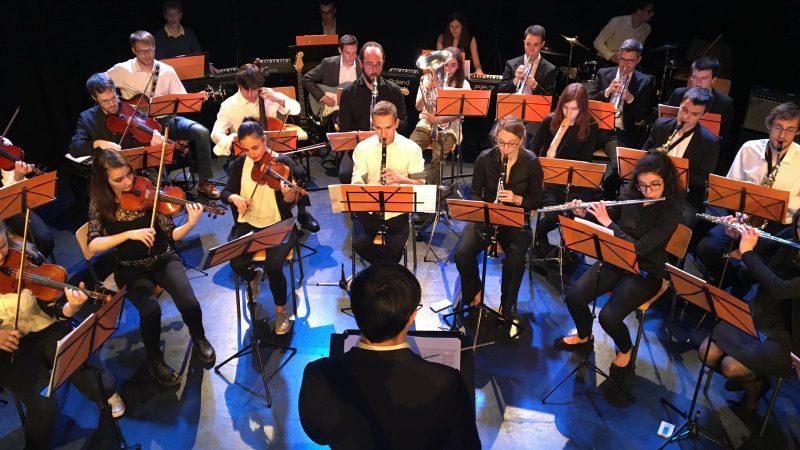 Orchestre Etudiant des Ingénieurs de Liège lors de son premier Concert de printemps dirigé par Tilân Dossogne